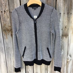 NWT Ann Taylor Boucle Knit Zip Up Cardigan SP